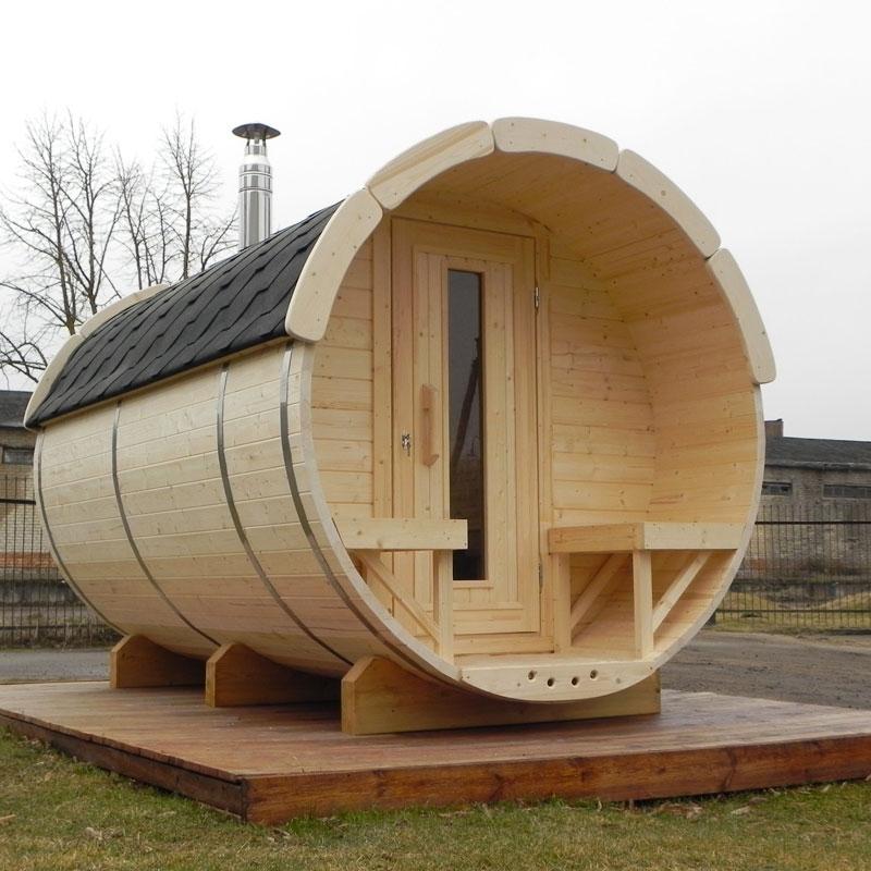 Sauna Finlandese  Sauna finlandese da esterno PLUTONE - da 2 a 8 posti - Sauna Finlandese