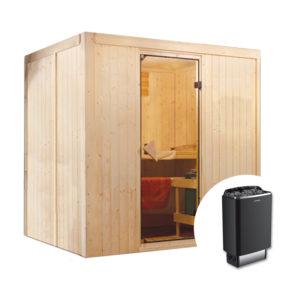 sauna finlandese suvi con stufa