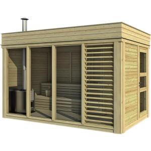 sauna finlandese ares con spogliatoio