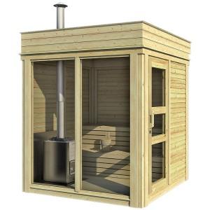 sauna finlandese da esterno ares 4 posti