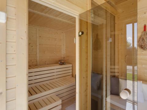 Sauna Finlandese  Sauna finlandese 6 posti da esterno con spogliatoio ARES