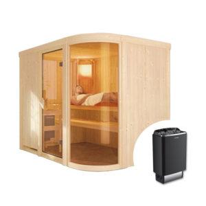 sauna finlandese PARIMA con stufa