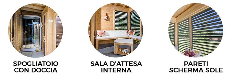 caratteristiche sauna ares