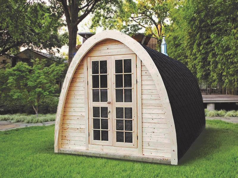 Sauna finlandese sauna finlandese da esterno a legna 4 for Porta legna da esterno