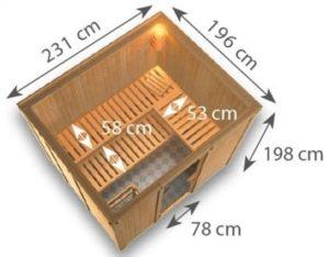 sauna finlandese gobin dimensioni
