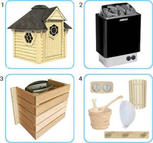sauna finlandese da esterno lars kit pro