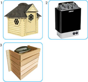 sauna finlandese da esterno lars standard
