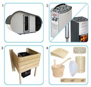 sauna finlandese da esterno laila kit pro