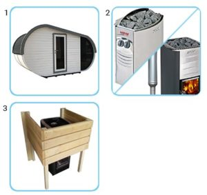 sauna finlandese da esterno laila kit standard