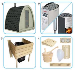 sauna finlandese da esterno kit pro