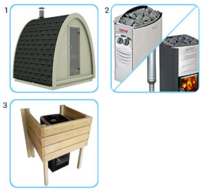 sauna finlandese da esterno kit standard