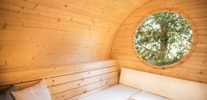 sauna finlandese da esterno laila finestra