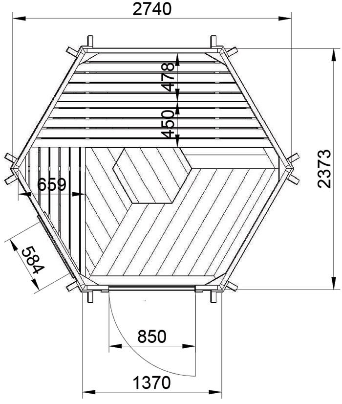 sauna finlandese da esterno lars dimensioni