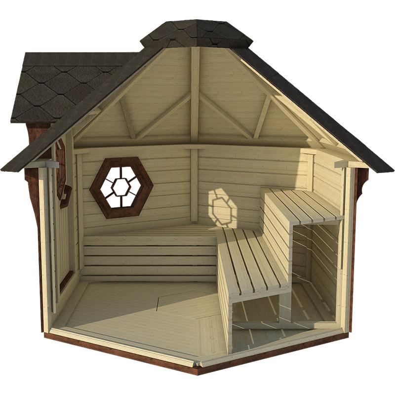 sauna finlandese da esterno lars interno