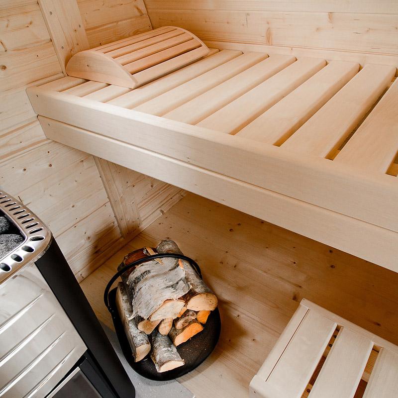 sauna finlandese da esterno sander 3 posti