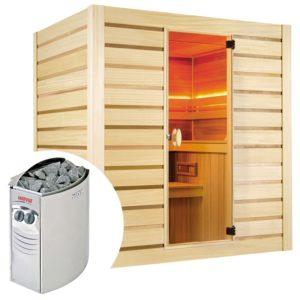 sauna finlandese holl's eccolo kit sauna con stufa