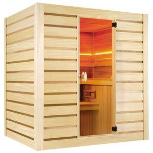 sauna finlandese holl's eccolo kit sauna