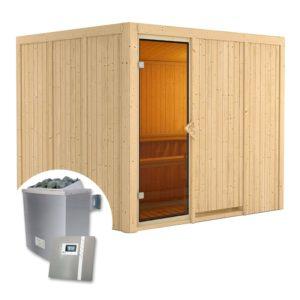 sauna finlandese gobin kit sauna stufa e pannello