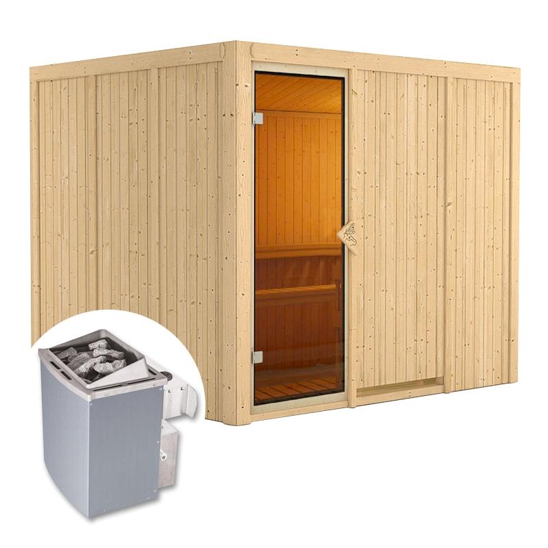 sauna finlandese gobin kit sauna con stufa