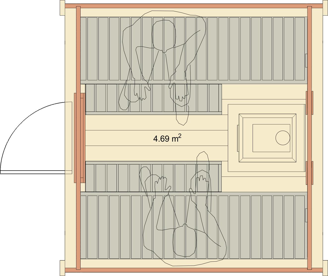 sauna finlandese da esterno sander dimensioni