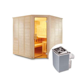 sauna finlandese tradizionale aren con stufa