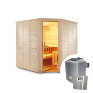 sauna finlandese tradizionale aren con sauna e pannello