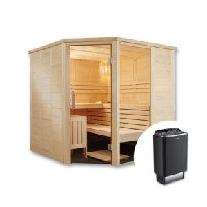 sauna finlandese inge con stufa