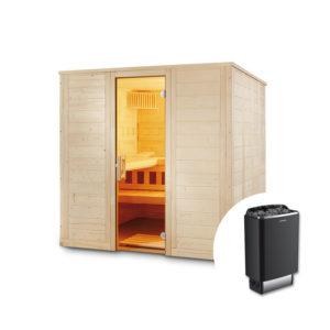 sauna finlandese soren con stufa