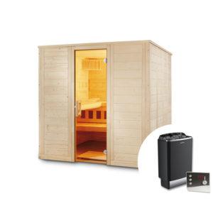 sauna finlandese soren con stufa e pannelli